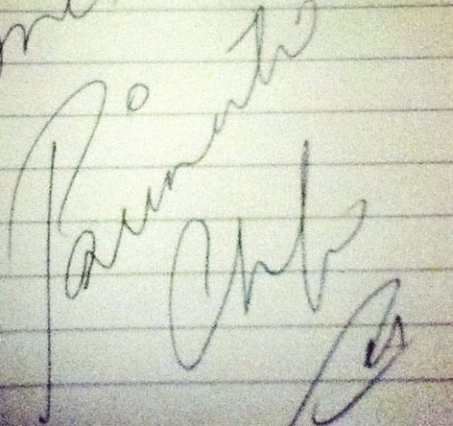 Parineeti Chopra signature