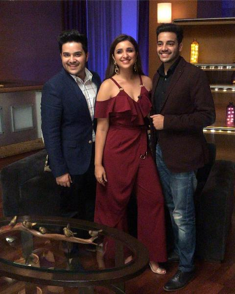 Parineeti Chopra with her brothers