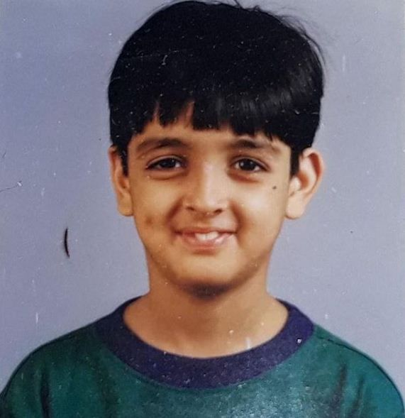 Priyank Sharma's childhood photo