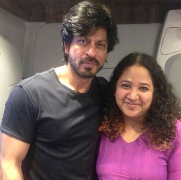 Rasika Agashe with Shah Rukh Khan