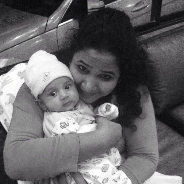 Rasika Agashe with her daughter