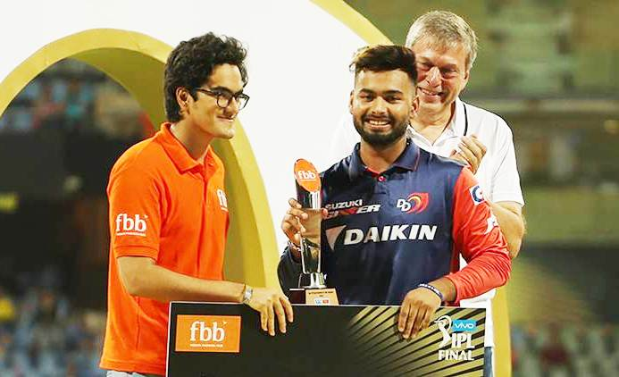 Rishabh Pant, the Emerging Player of the Season IPL 11