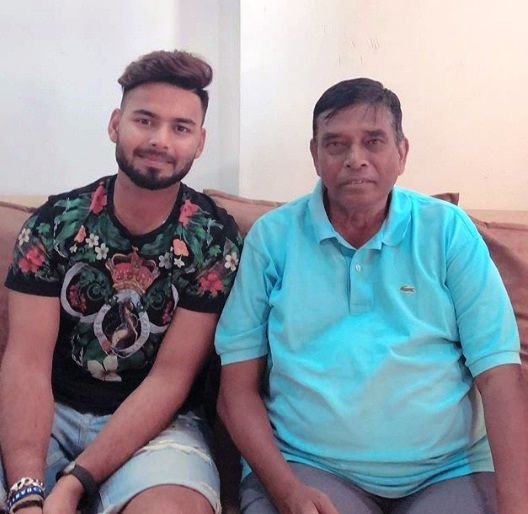 Rishabh Pant with his coach Tarak Sinha