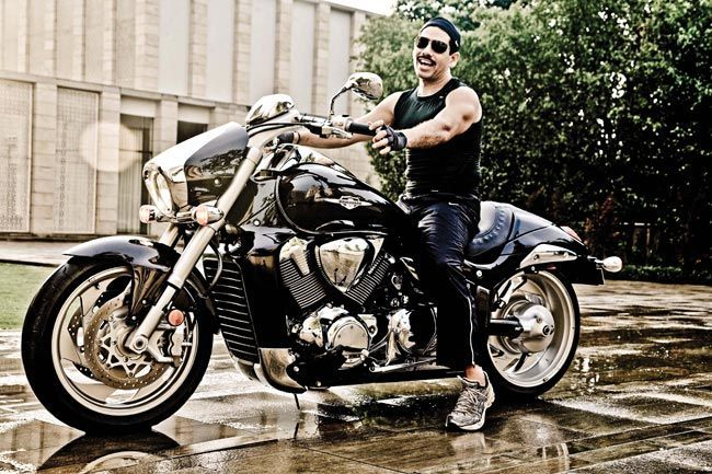 Robert Vadra on his bike
