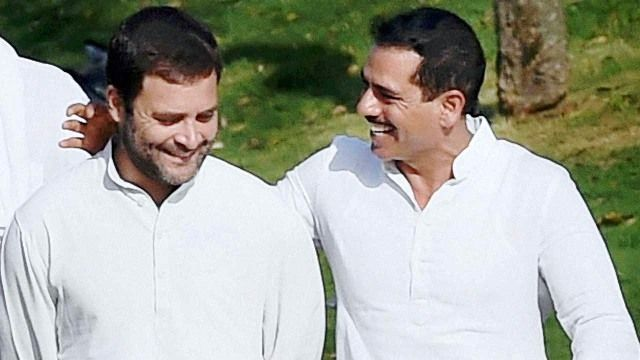 Robert Vadra with Rahul Gandhi
