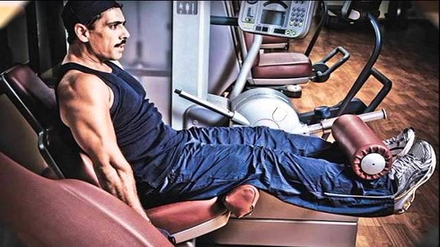 Robert Vadra working out in gym