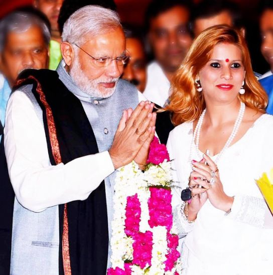Ruby Yadav with Narendra Modi