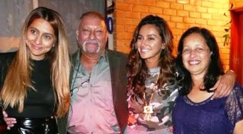Shibani Dandekar with her family