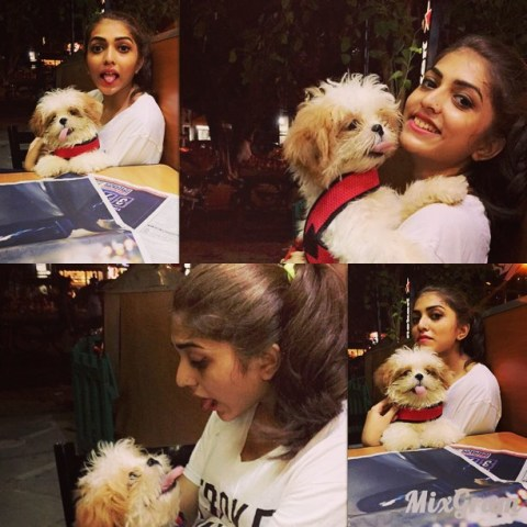 Shruti Sinha pet dog bum