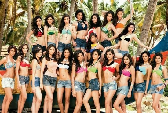 Sonam Bajwa as a finalist of the Femina Miss India contest 2012