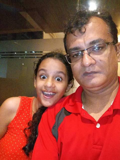 Syna Anand with her father