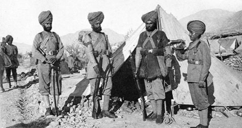 The 36th Sikhs Regiment Soldiers in 1896