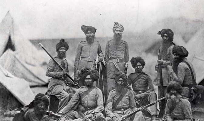 The 36th Sikhs Regiment Soldiers