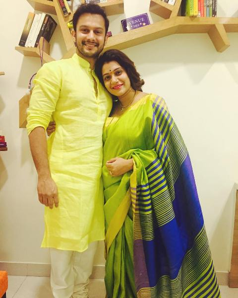 Urmila Kanetkar with her husband
