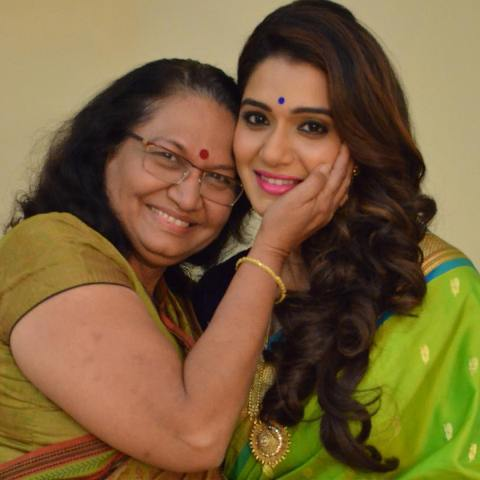 Urmila Kanetkar with her mother