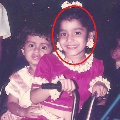 Urmila Kanetkar's childhood picture