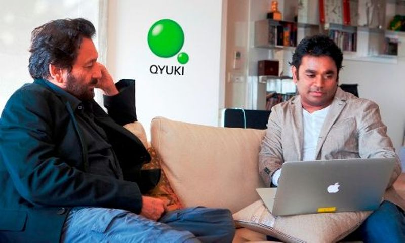 A. R. Rahman and Shekhar Kapoor founder of Qyuki