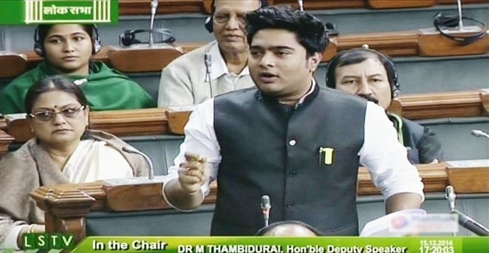Abhishek Banerjee during Question Hour in Lok Sabha