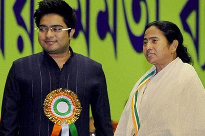 Abhishek Banerjee with Mamata Banerjee
