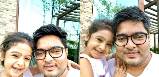 Abhishek Banerjee with his daughter