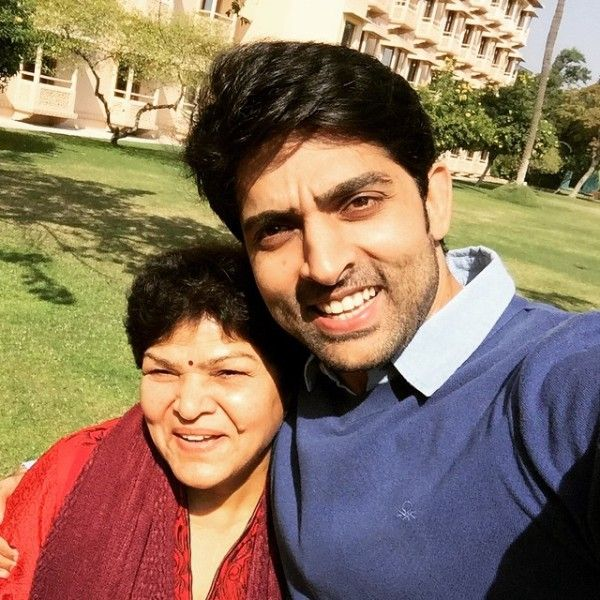 Adhvik Mahajan with his mother