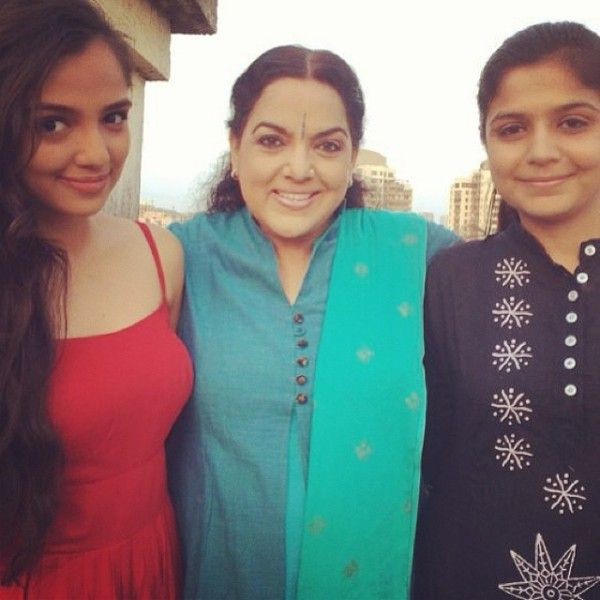 Ahsaas Channa with her mother and sister
