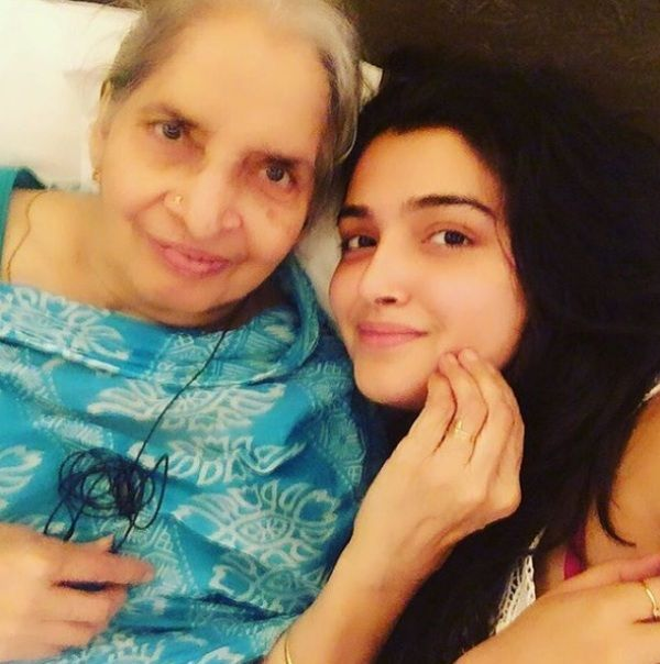 Amrapali With Her Grandmother