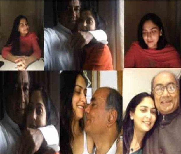 Amrita Rai and Digvijaya Singh images