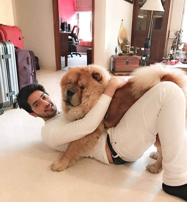 Armaan Malik With His Dog