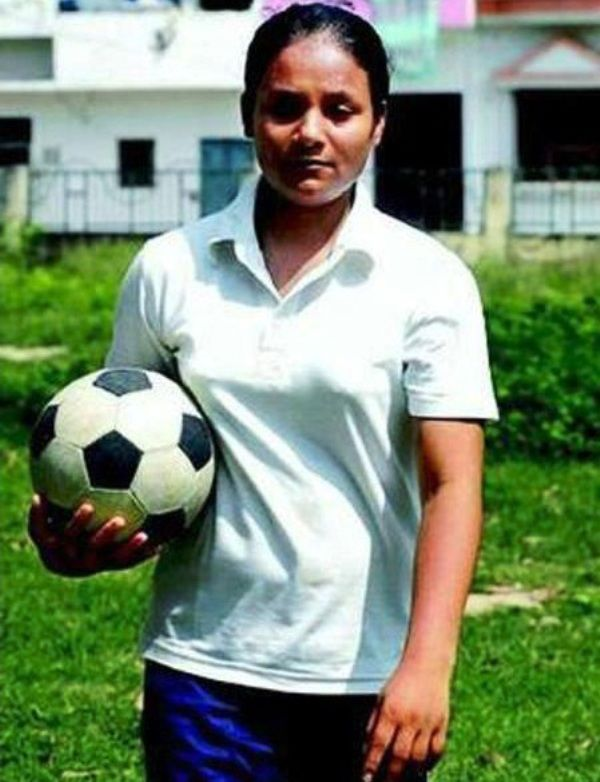 Arunima Sinha With Football