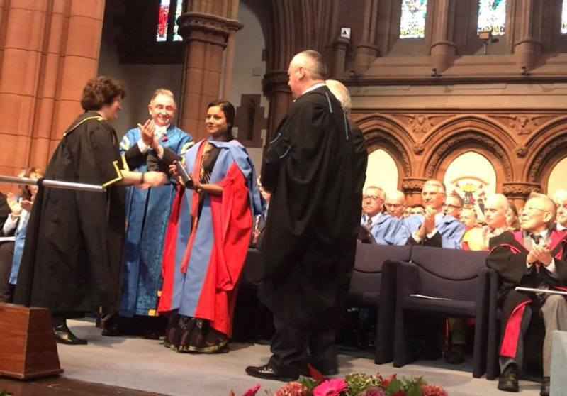 Arunima Sinha receiving honorary doctorate from the University of StrathclydeArunima Sinha receiving honorary doctorate from the University of Strathclyde
