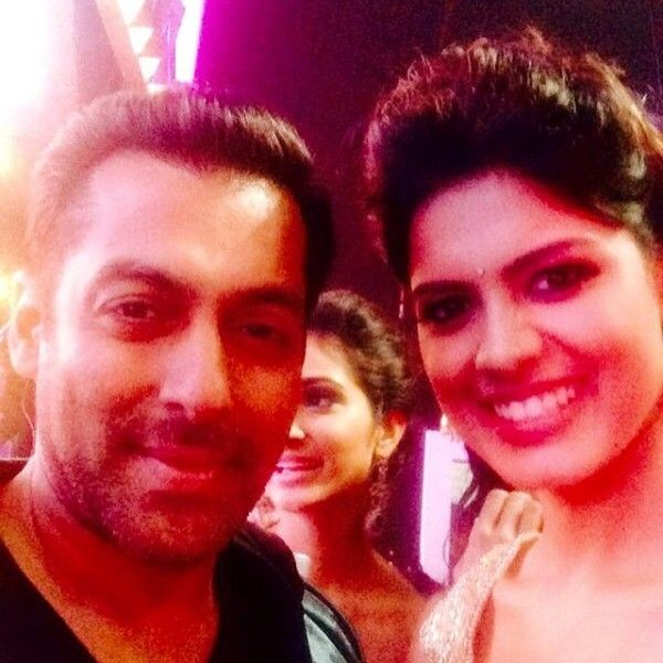 Asha Bhat with Salman Khan