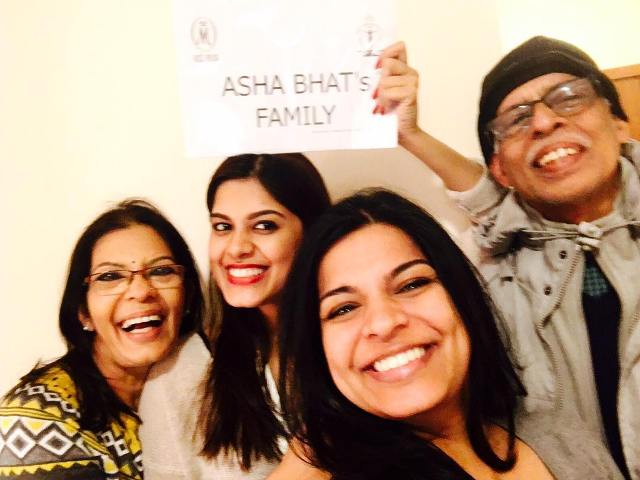 Asha Bhat with her family