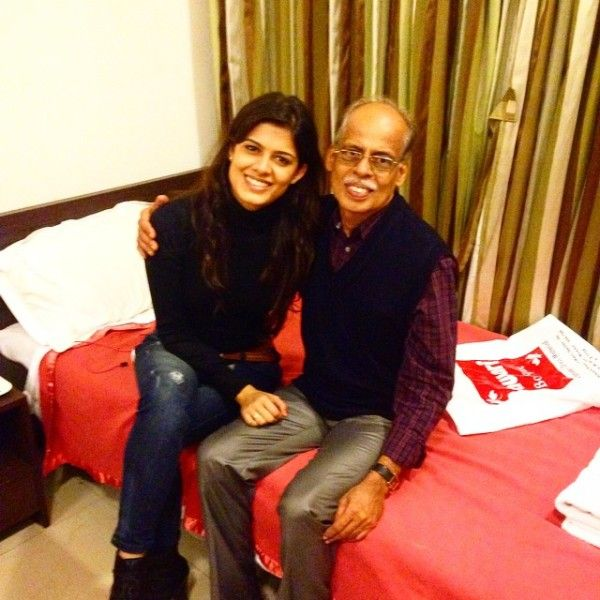 Asha Bhat with her father