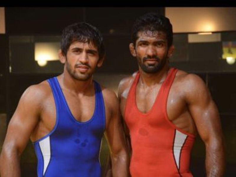 Bajrang Punia with Yogeshwar Dutt