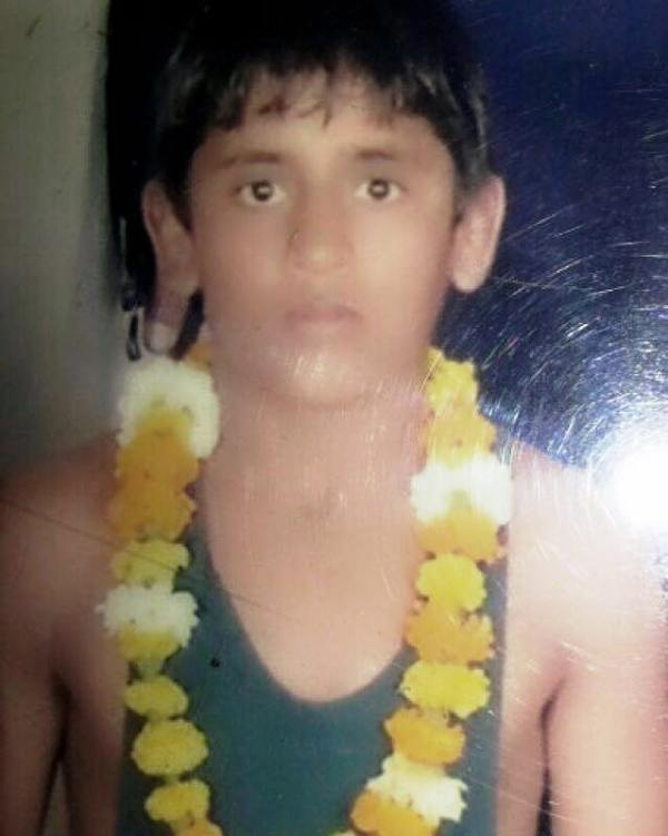 A Childhood Photo Of Bajrang Punia