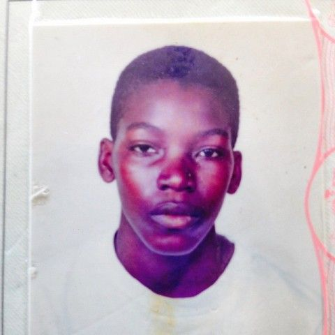 Childhood photo of Chris Gayle