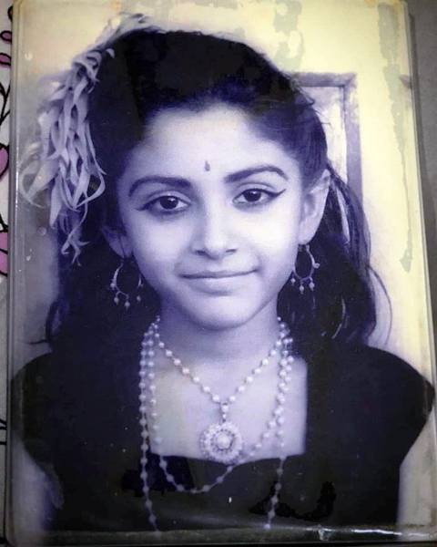 Childhood photo of Jaya Prada