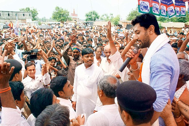 Chirag Paswan In An Election Campaign