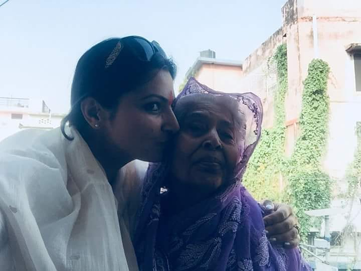 Chitra Tripathi with her grandmother