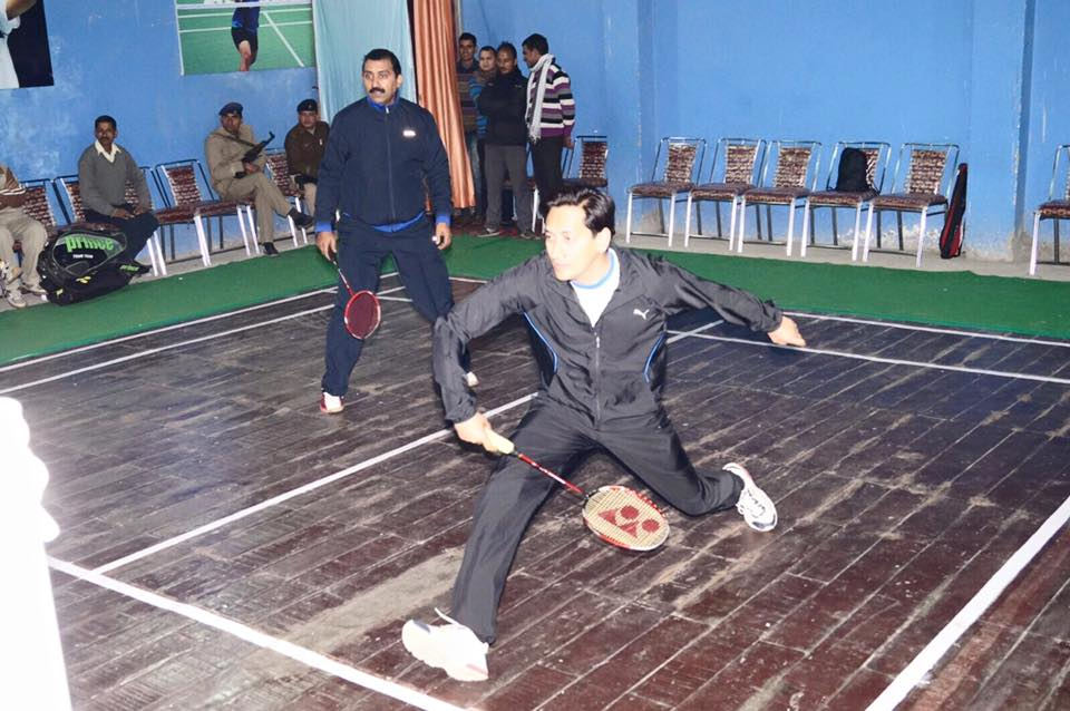 Deepak Rawat Playing Badminton