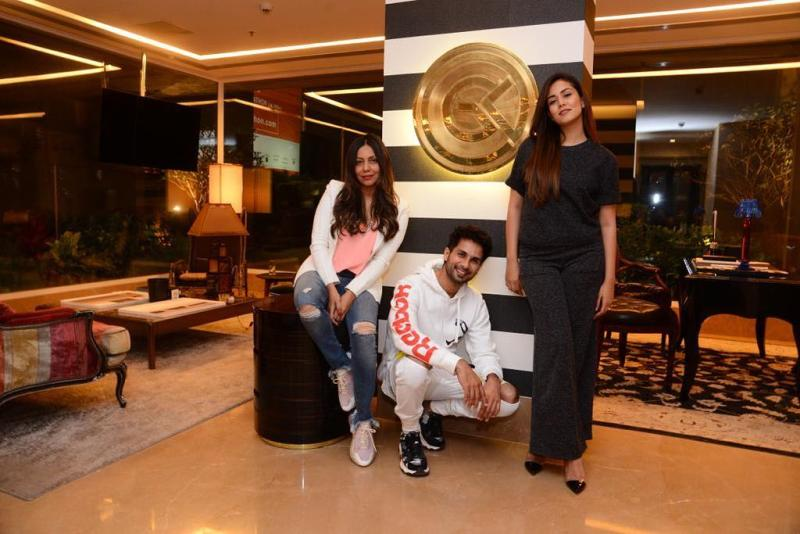 Gauri Khan at her design studio with Shahid Kapoor and Mira Rajput