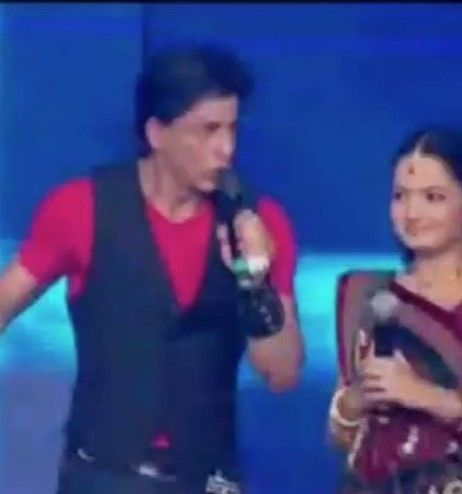 Giaa manek with Shah Rukh Khan