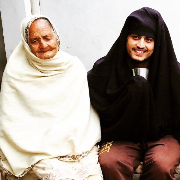 Gurnam Bhullar with his grandmother