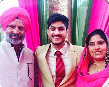 Gurnam Bhullar with his parents