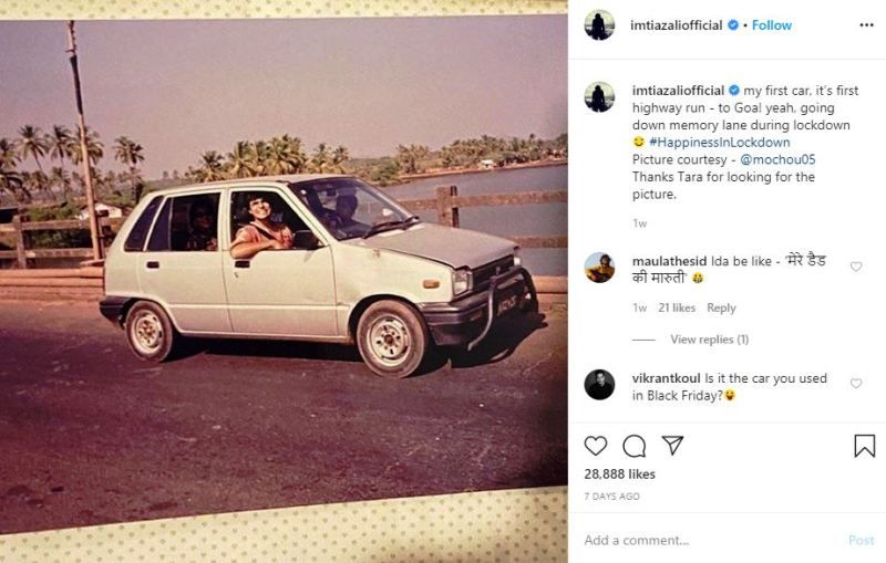 Imtiaz Ali's Instagram Post About His First Car
