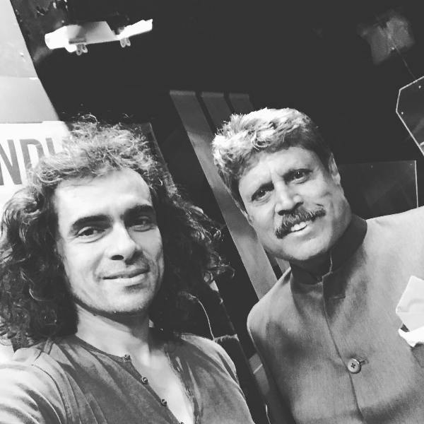 Imtiaz Ali with Kapil Dev