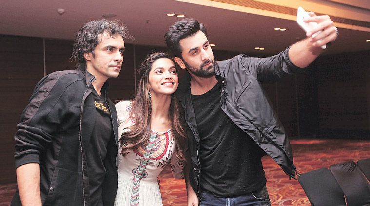 Imtiaz Ali with Ranbir Kapoor and Deepika Padukone
