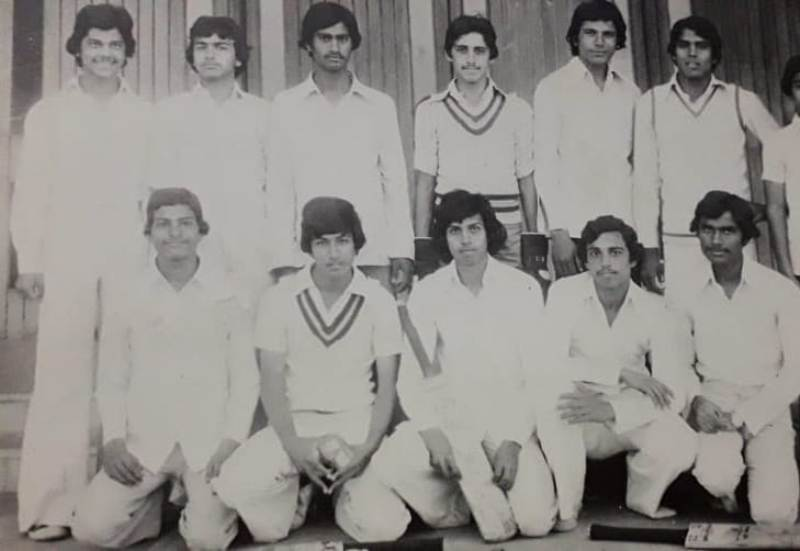 Jawed with his cricket team
