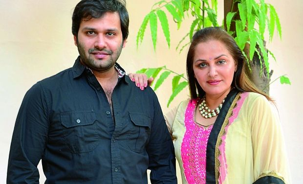 Jaya Prada With Her Step-Son Siddhu